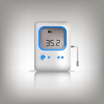 Termômetro infravermelho isométrico médico digital sem contato