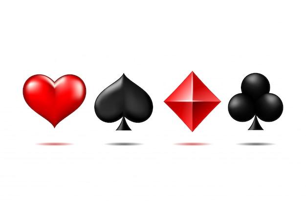 Terno 3d de cartas de jogar.