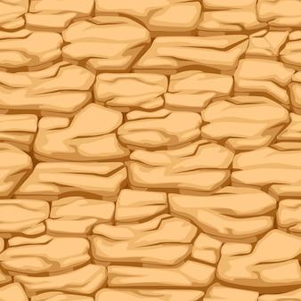 Terra de padrão rachado, solo deserto de textura sem emenda