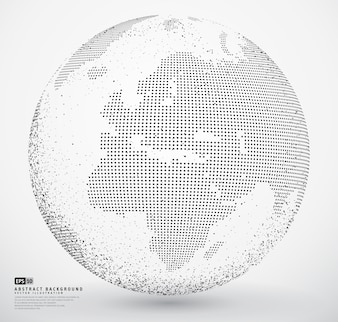 Terra do globo pontilhada abstrata