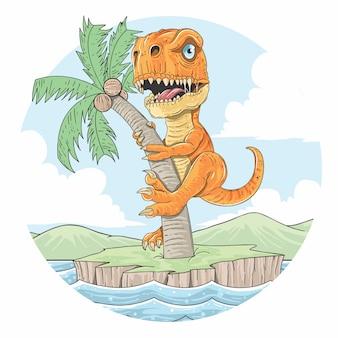 Terra do verão de t-rex
