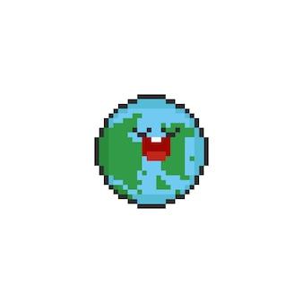 Terra dos desenhos animados do pixel