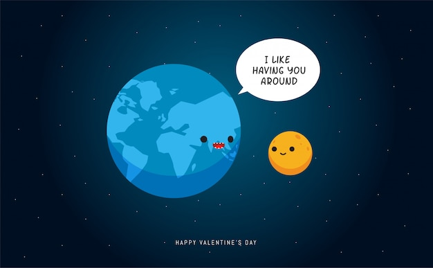 Terra e a lua