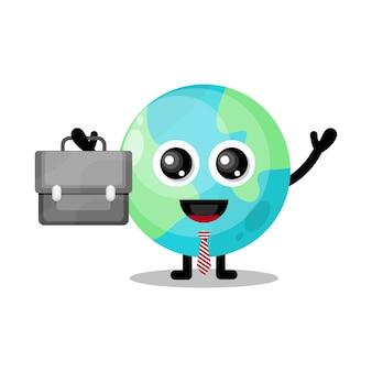 Terra funciona mascote de personagem fofa