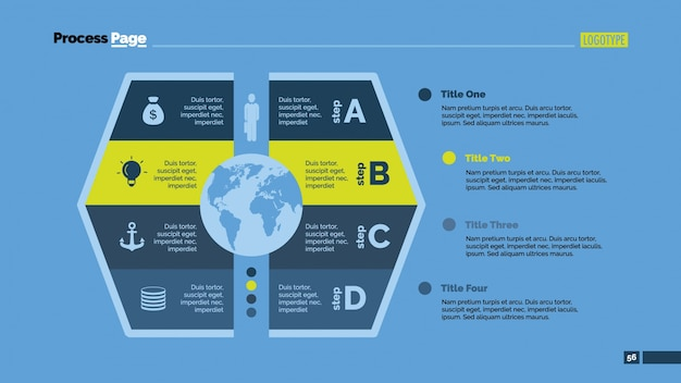 Terra globo com opções de design infográfico