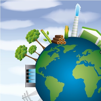 Terra planeta energia limpa ambiente recursos