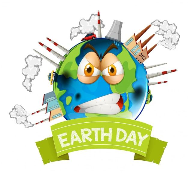Terra poluída com raiva