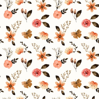 Terracota mini florals aquarela padrão sem emenda