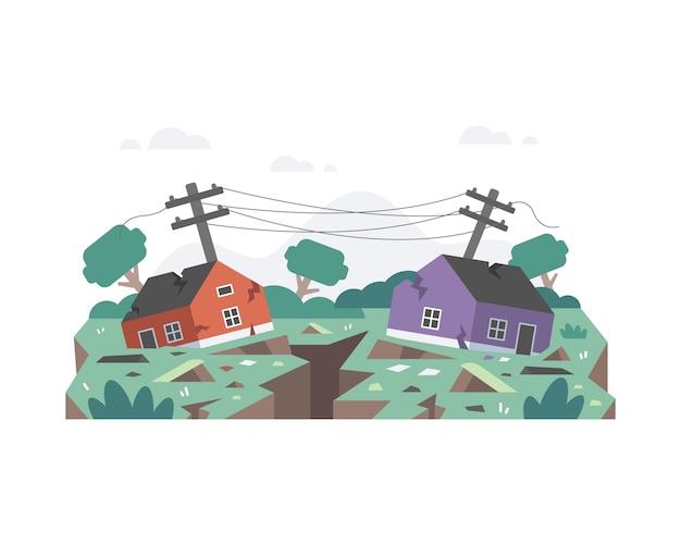 Terremoto destruiu as casas