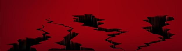 Terremoto quebrando buracos