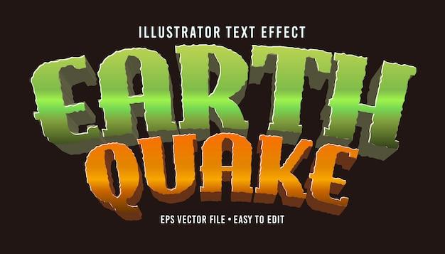 Terremoto texto estilo estilo vetoriais editáveis eps efeito de texto