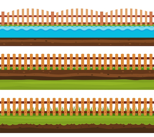 Terrenos sem costura solos e terra