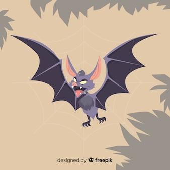 Terrific hand drawn halloween bat