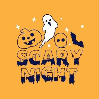 Terror noturno assustador de halloween