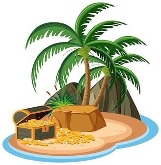 Tesouro na ilha isolado