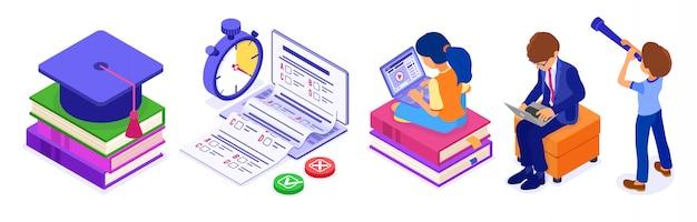 Teste de exame de educação a distância online