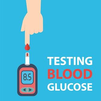 Teste de glicose no sangue