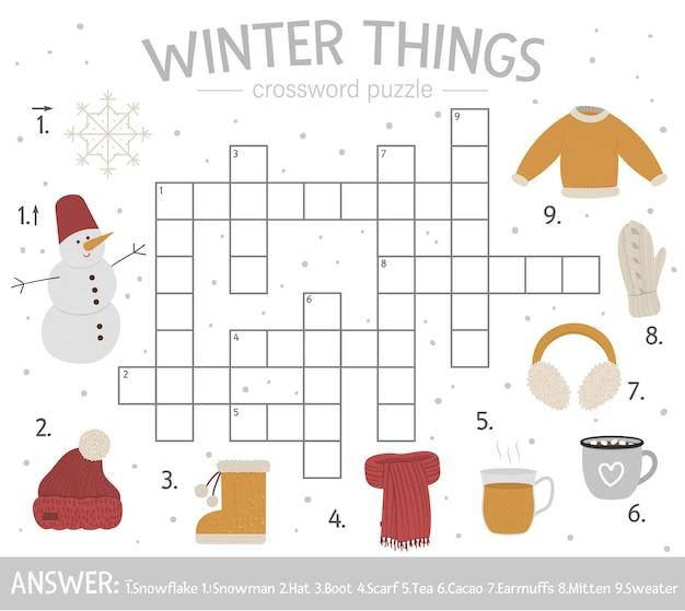 Teste de inverno brilhante e colorido para crianças.