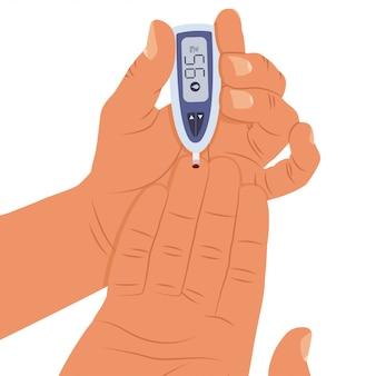 Teste de nível de açúcar no sangue