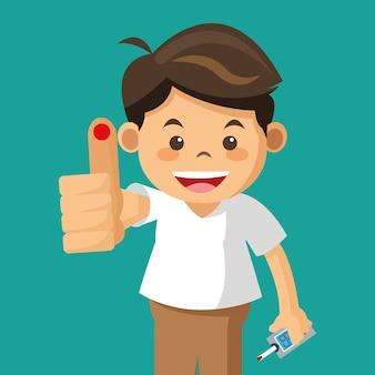 Teste de queda de diabetes juvenil