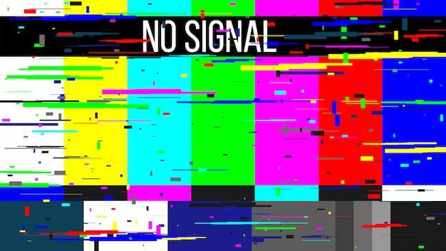 Teste de tv sem sinal, erro na tela da televisão.