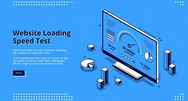 Teste de velocidade de carregamento do site