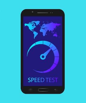 Teste de velocidade no telefone. verifique a velocidade da internet no telefone.