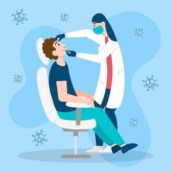 Teste de zaragatoa nasal