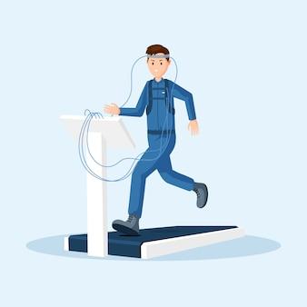 Teste físico de astronauta