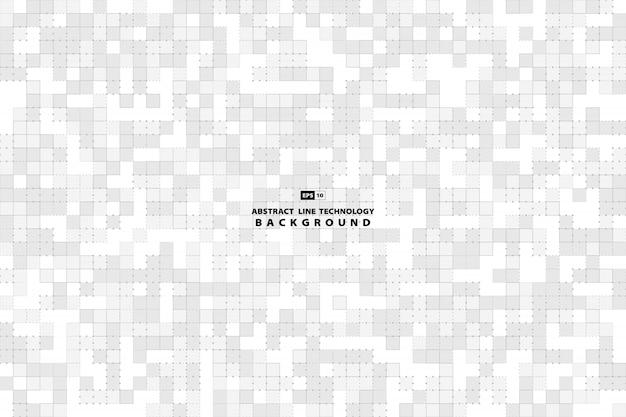 Teste padrão abstrato do quadrado cinzento e branco do fundo mínimo da decoração.