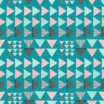 Teste padrão abstrato geométrico do triângulo na moda sem emenda