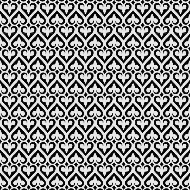 Teste padrão abstrato sem costura flor de lis ornamento pá papel de parede geométrico