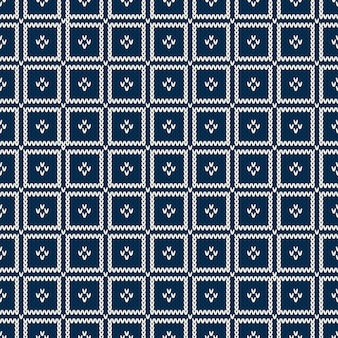 Teste padrão abstrato sem costura tricô azul. design de malha de malha de lã. imitação de textura de malha de lã.