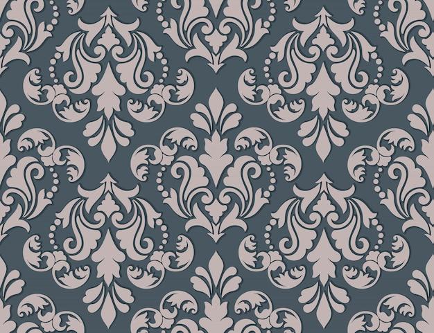 Teste padrão antiquado luxuoso clássico do damasco.