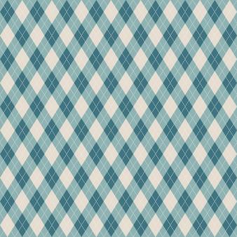 Teste padrão azul da manta sem emenda do argyle.