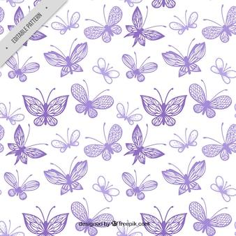 Teste padrão bonito com variedade de borboletas