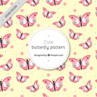 Teste padrão bonito de borboletas