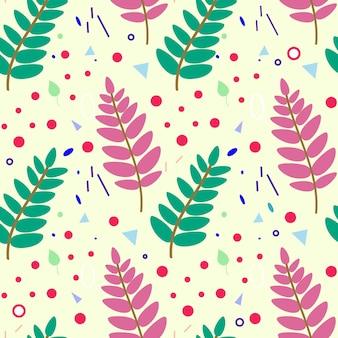 Teste padrão botânico sem costura com folhas de sorveira