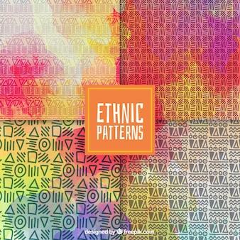Teste padrão colorido com elementos étnicos