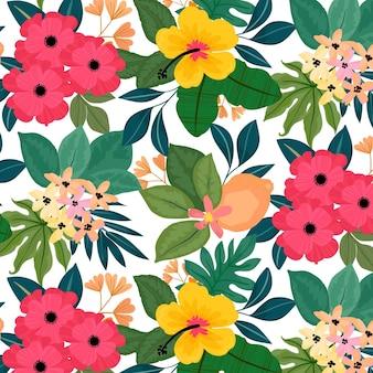 Teste padrão colorido com flores