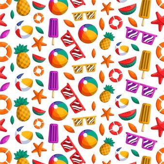 Teste padrão colorido do verão