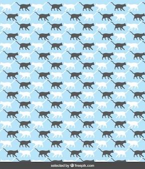 Teste padrão com silhuetas do gato