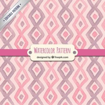 Teste padrão cor de rosa da aguarela no estilo geométrico