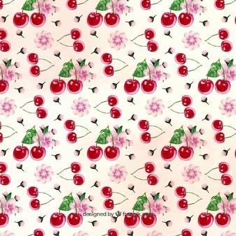 Teste padrão da cereja bonita