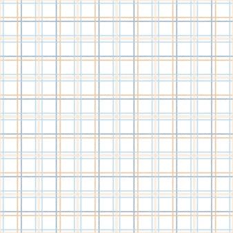 Teste padrão da tartã sem emenda com tons azuis e alaranjados.