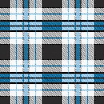 Teste padrão da tartã sem emenda com tons azuis e cinzentos.