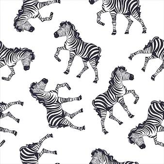 Teste padrão da zebra, impressão do safari do miúdo