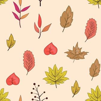 Teste padrão das folhas de outono