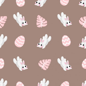 Teste padrão de coelhos bonito