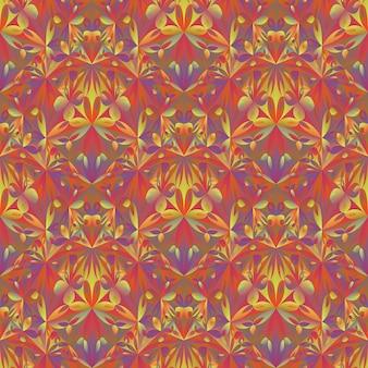 Teste padrão de flor abstrata poligonal